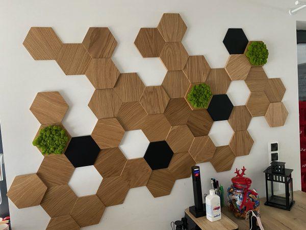 Pomysł na ścianę, drewniane panele ścienne