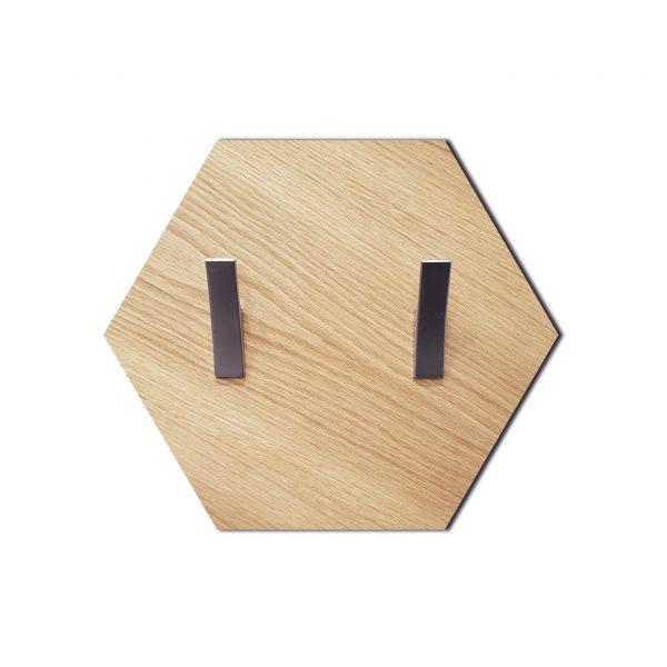 Heksagon-dąb-natura-wieszak-kurtka